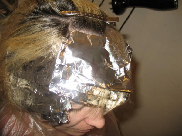 Мелирование на фольгу длинные волосы видео