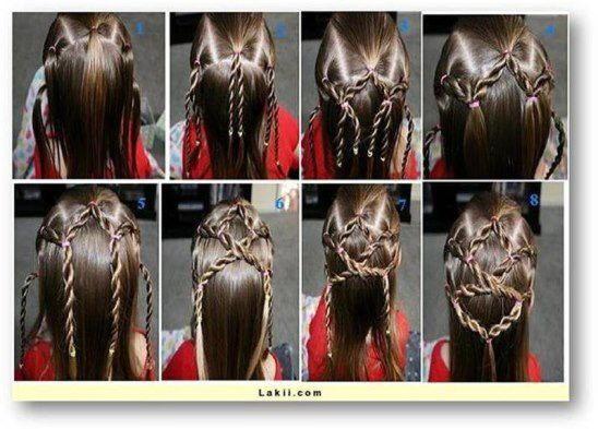 Прически для девочек на средние волосы на каждый день