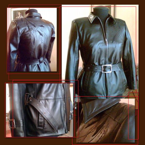 Как перешить кожаный плащ в кожаную куртку