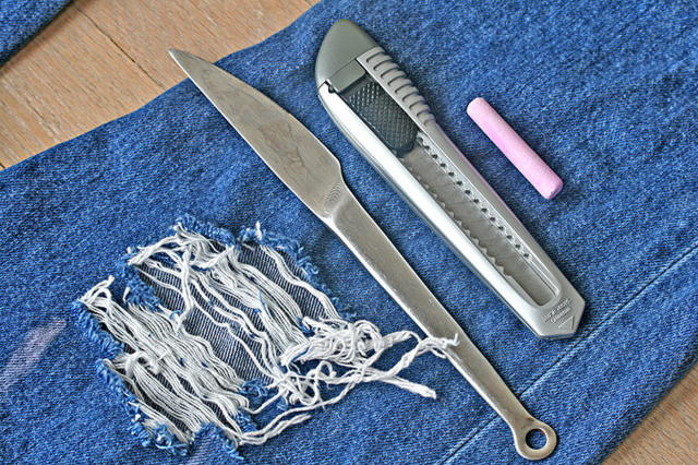 Как сделать джинсы порваными - Лакомый кусочек