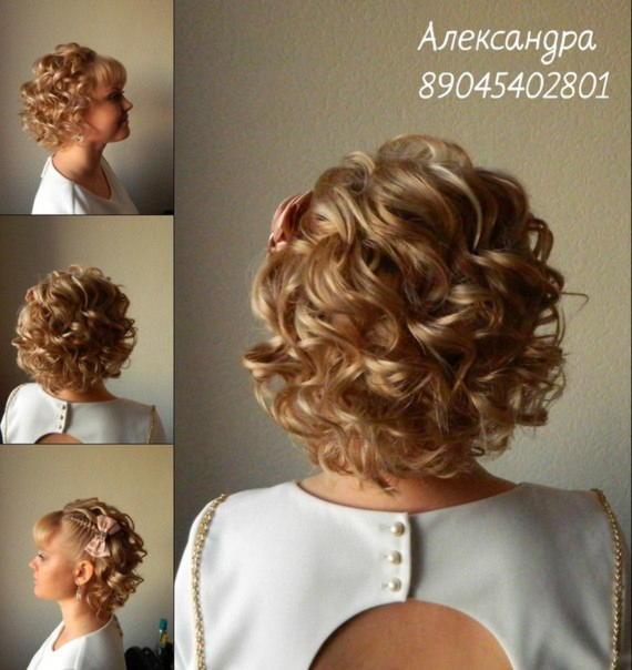 Простые прически на свадьбу на короткие волосы своими руками